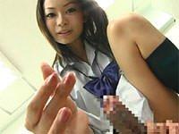 女子校生の指つまみコキ 指先だけでイカせちゃう!