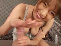 鬼に肉棒。激カワ女優が手コキの秘技を身につけたっ! 椎名理紗が完全主観でカメラ目線手コキ。