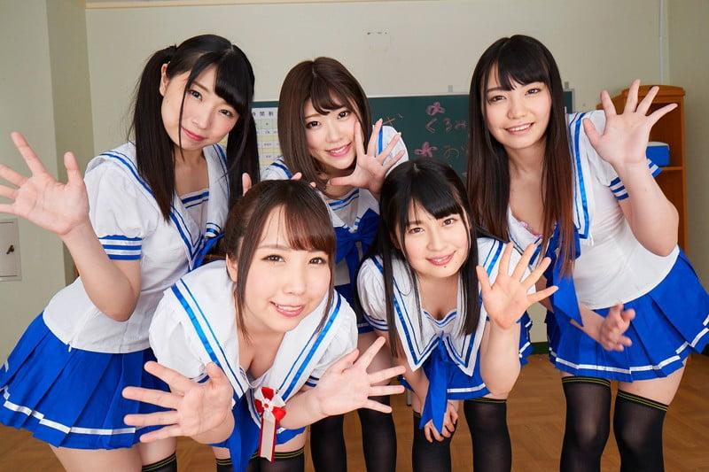 玉木くるみ、優梨まいな、石川祐奈、天野美優、あずみひなの学園ストーリー
